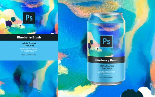 Adobe Creative Canned Fruit Juice Packaging Design