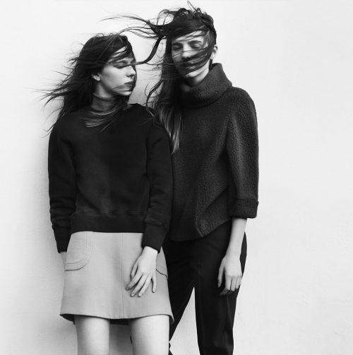 Sam Robinson Twins Fashion Black and White Lookbook Photography