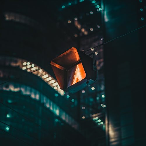 Warsaw at night Vibrant Light Streak Trails Low Exposure City Night Photography
