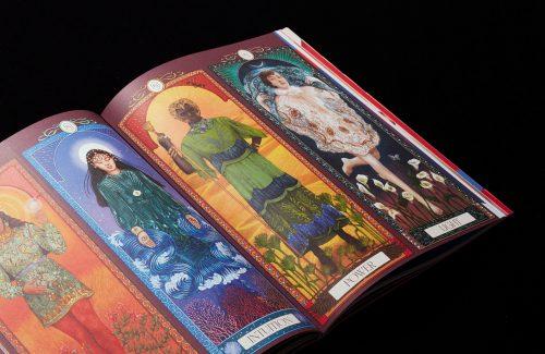 Romance journal magazine illustrated editorial tarot cards