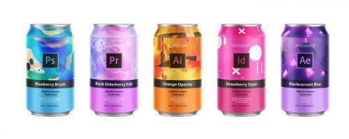 Adobe Creative Canned Fruit Juice Packaging Design