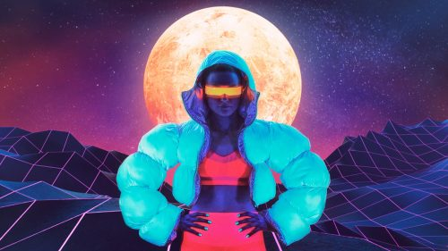 Neon Blacklight Vaporwave Futuristic Fashion Design Photography