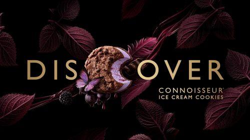 Connoisseur Ice Cream Cookie Packaging Design