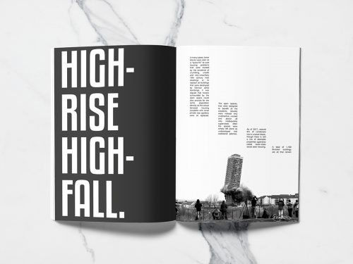 People Concrete Jungle Modern Brutalist Typographic Editorial Spread
