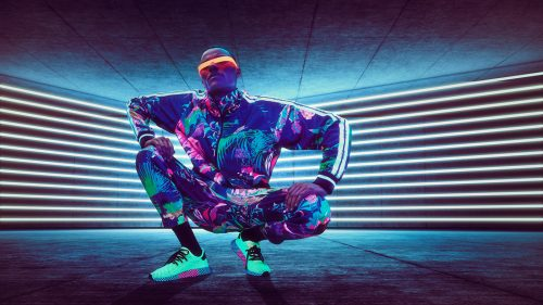 Neon Blacklight Vaporwave Floral Futuristic Fashion Design Photography