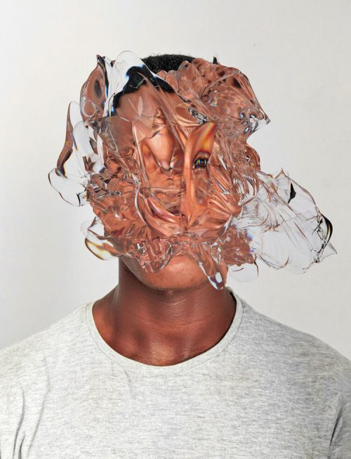 face it abstract surreal water splash blur portrait photography