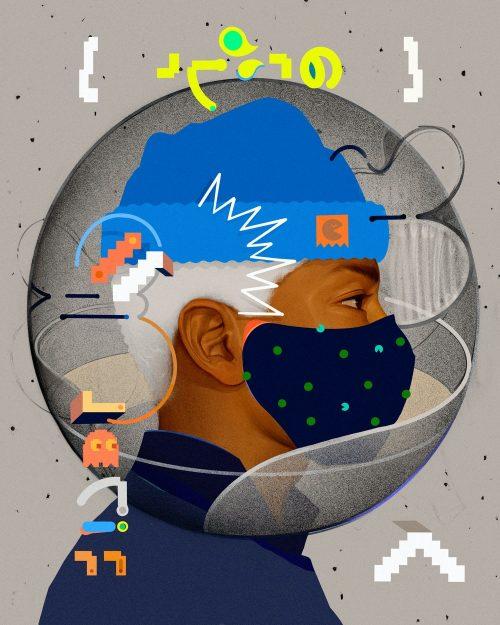 Coronavirus COVID 19 – Face Mask Illustration