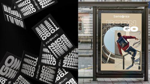 Samsonite Suitcase Luggage Campaign Brutalist Typographic Rebranding Poster Advertisement – ...