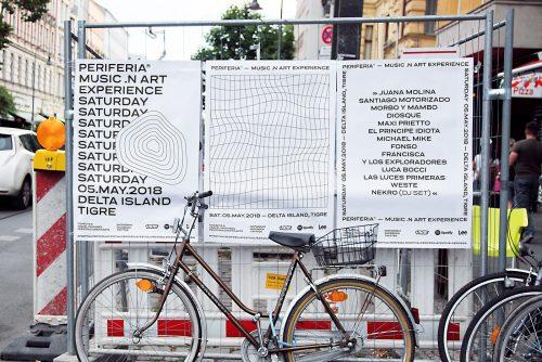 Festival Periferia Music in Art Experience Minimal Poster Design