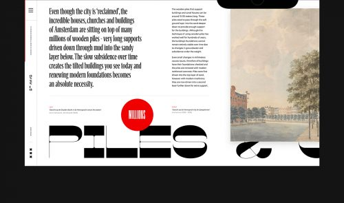 Amsterdam Canals UI UX Website History Design Modern Layout Typography