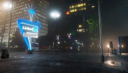 Antisocial Social Media 3D Night Renderings – LinkedIn