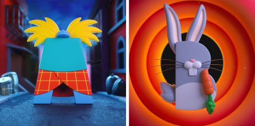 36 Days of Type 3D Retro Cartoons