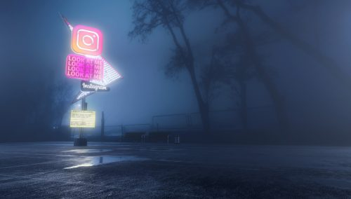 Antisocial Social Media 3D Night Renderings – Instagram