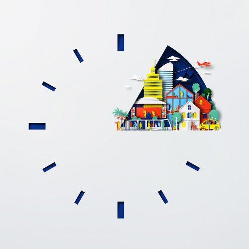 Nokia 5G paper craft cutouts technology illustration design
