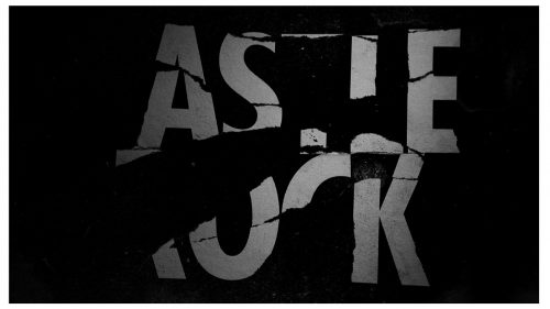 Castle Rock Main Title Sequence Typographical Black and White Style Frames