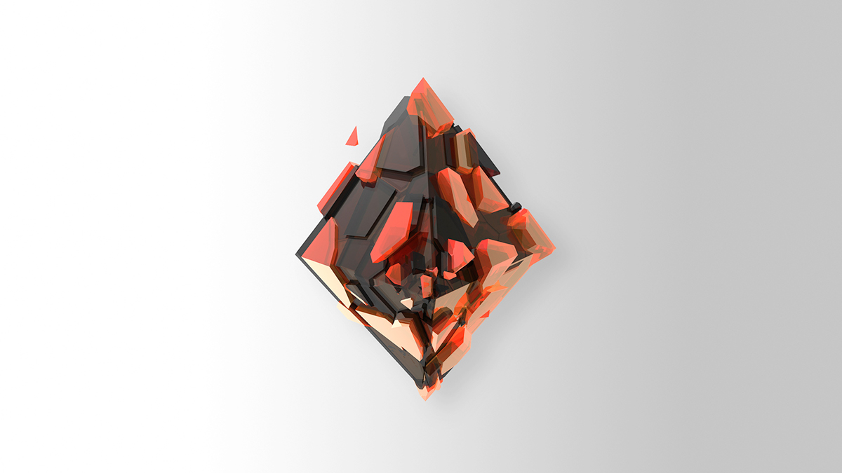 Colorful Encrusted 3D Shapes Objects