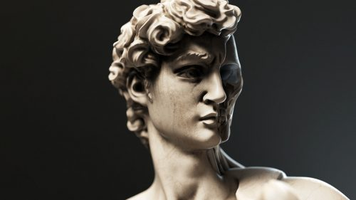 Viasat World, The Story of Europe 3D Marble and Gold Statues