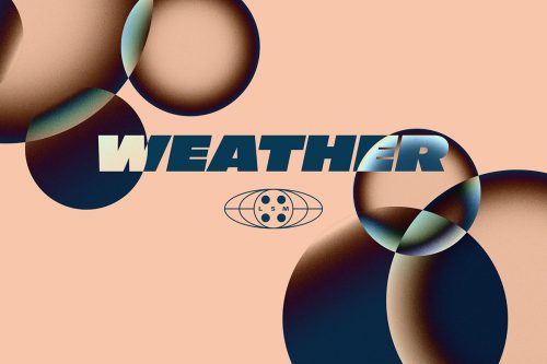 Weather Chromatic Gradient Overlapping Circles