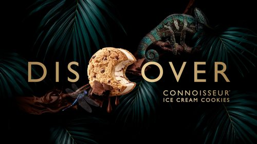Connoisseur Ice Cream Cookie Packaging Design