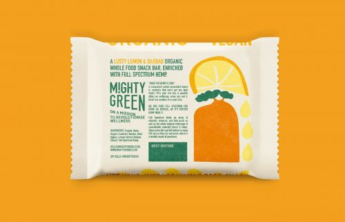 MIGHTY GREEN CBD Snack Bar Food Packaging Design