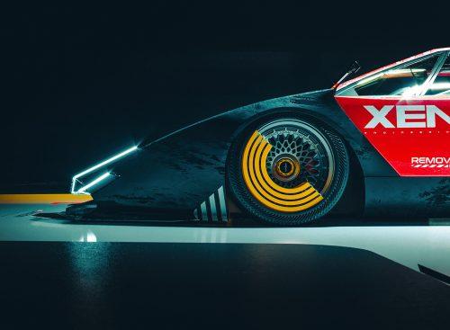 E.V.E COUNTACH Autonomous Drone Sci-fi Cyberpunk 3D Futuristic Automobile Car Concept