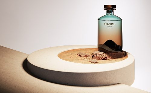 OASIS alcohol vodka product packaging design photography branding