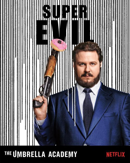 Netflix Umbrella Academy Black and White Social Media Campaign – Super Evil