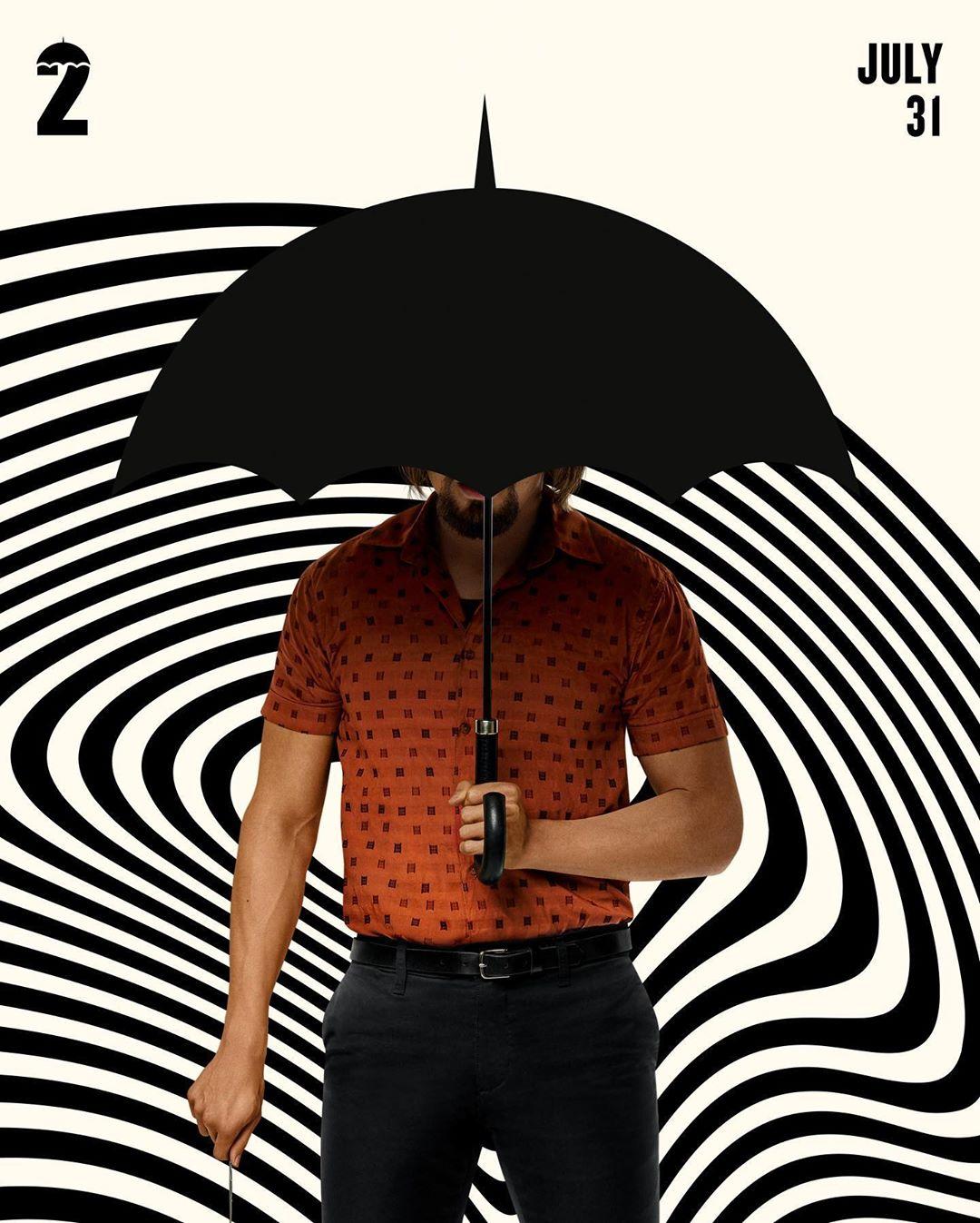 Netflix Umbrella Academy Black and White Social Media Campaign