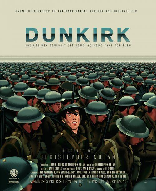 Dunkirk Illustrated Movie Poster Key Art
