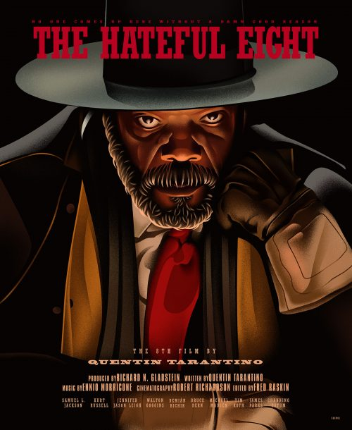 The Hateful Eight Illustrated Movie Poster Key Art