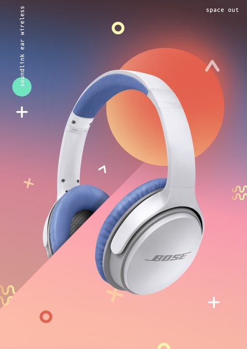 bose audio music space out poster design