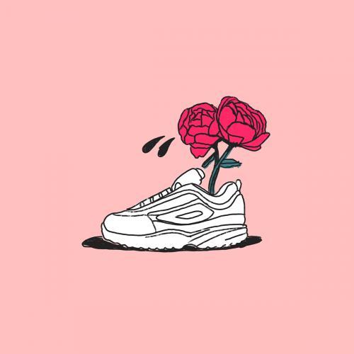 Contemporary Still Life Illustrations – Sneaker Flower