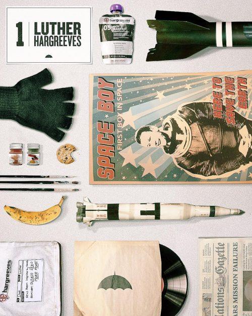 Netflix Umbrella Academy Black and White Social Media Campaign – Knolling