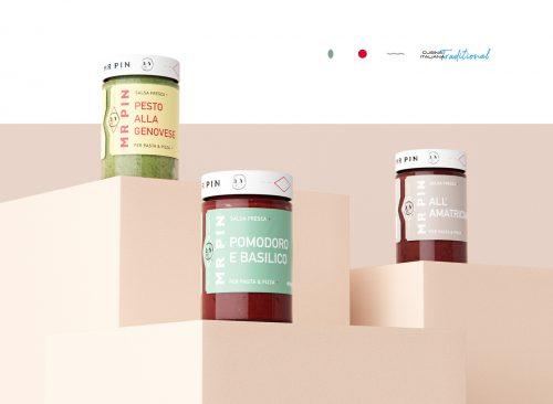 Mr Pin Salsa Fresca Fresh Salsa Minimal Packaging Design