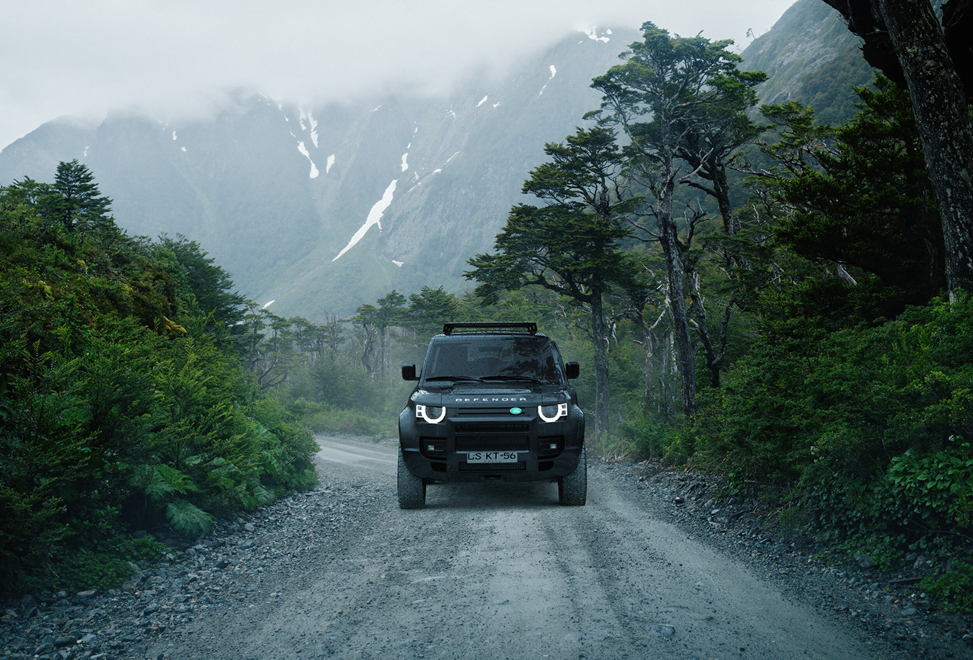 Land Rover Defender Patagoina Argentina Landscape Automobile Car Photograpy