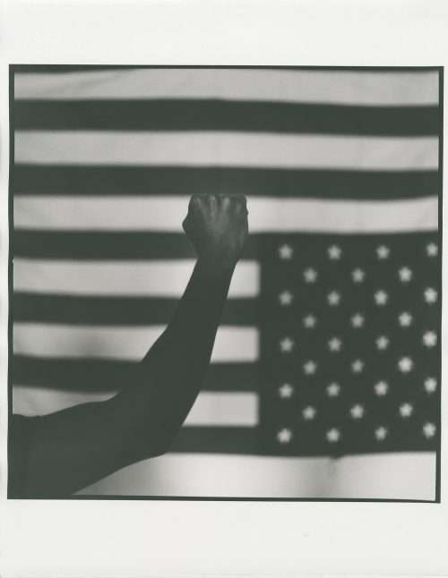 Righteous Indignation Black Lives Matter American Flag Black and White Photography