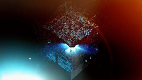 STAR TREK – PICARD – 3D space light leak title sequence styleframes