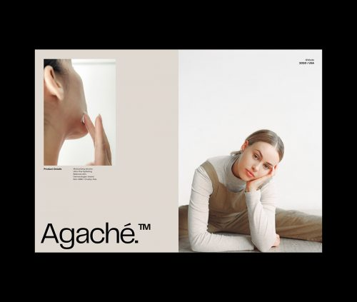Agache skincare product packaging branding advertising and design