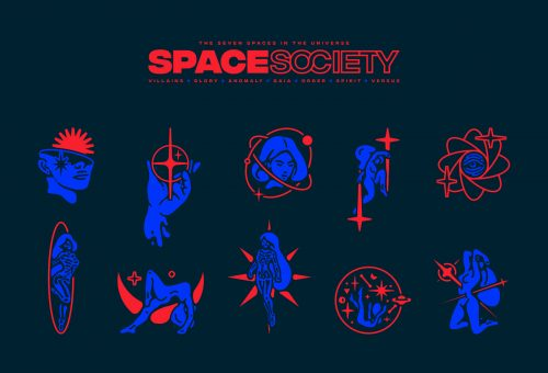 Versus Space Society Zodiac Astrology Horoscope Illustrations
