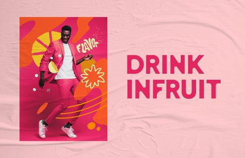 In fruit sparkling water visual identity and design