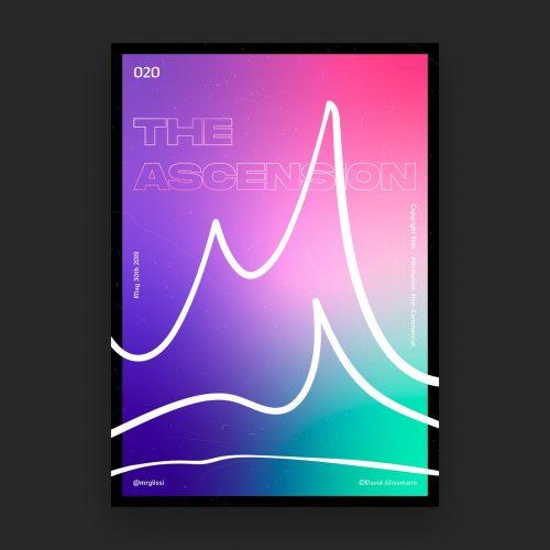 David Glissmann Geometric Monument — Poster Series Chpt. I Gradient Vaporwave – Ascension
