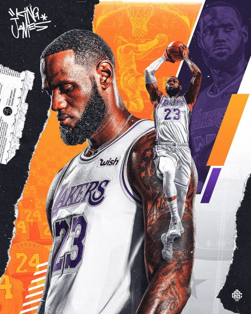 Nick Arley Lebron James NBA Sports Graphic Design