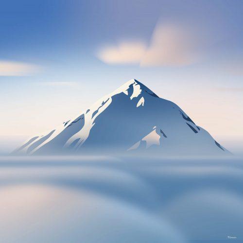Mountain Landscape Illustrations by Romain Trystram