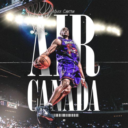 Kevin Aquino – Illustrated Sports Posters – Air Canada Vince Carter Basketball NBA