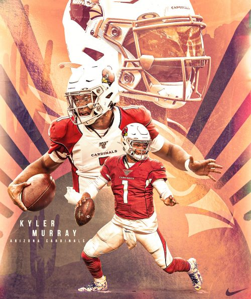 Brandon Long – NFL Illustrated Sports Posters – Kyler Murray