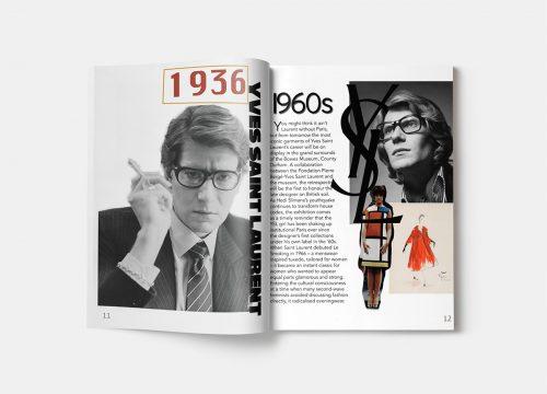 Encore magazine editorial layout design