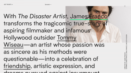 The Disaster Artist Watson Design Group – Tommy's Website Design Modern Brutalist Mi ...