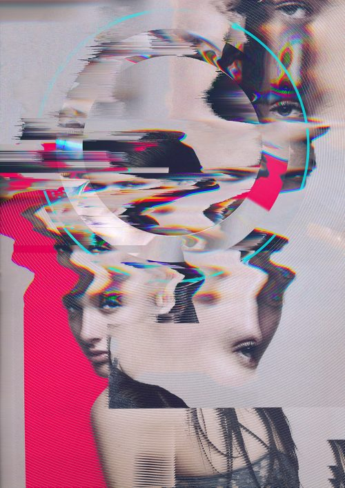 Daughters of Nyx – Abstract Poster Series – Glitch Warp Design