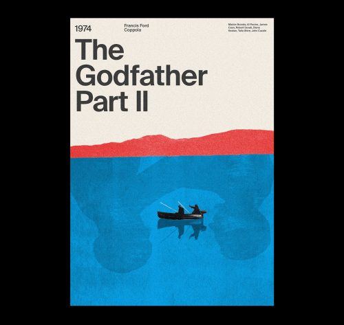 Bauhaus inspired Typographical movie poster designs – The Godfather Part 2