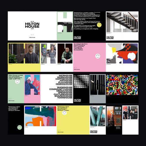 Hilton House Brand Brutalist Identity Collage Style Poster Design